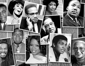Black Then Black History Background