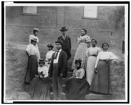 African American men and women. group portrait