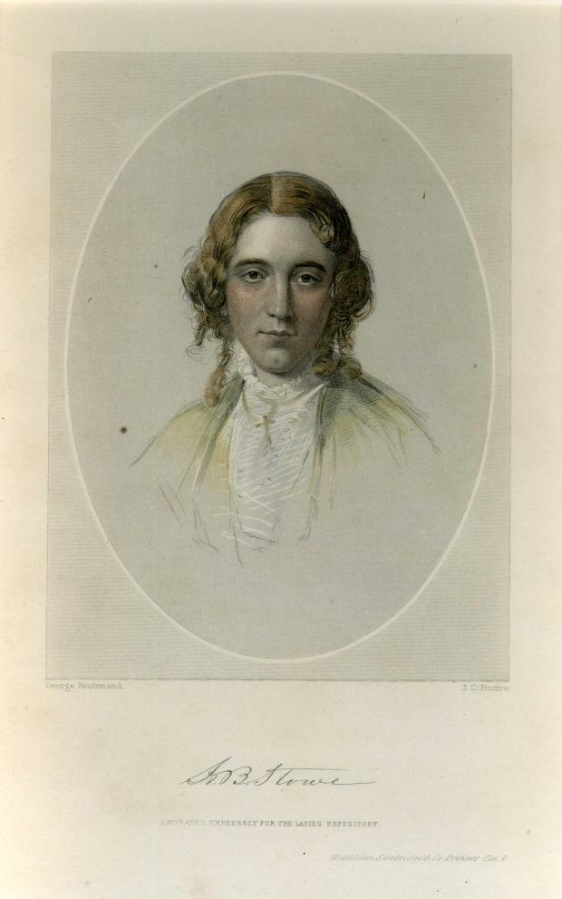 A souvenir print of Harriet Beecher Stowe, 1861. (Photo: Harriet Beecher Stowe Center, Hartford, Connecticut)
