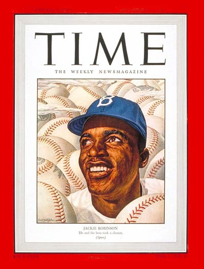 jackie robinson on time