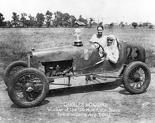 African American Race Car Driver, 1920s