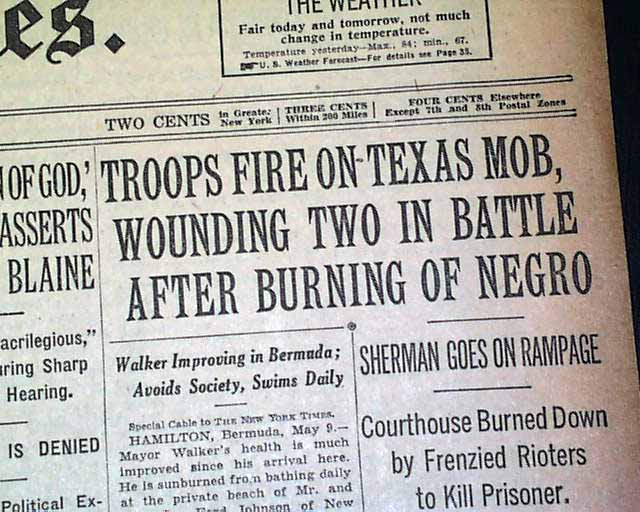Sherman (TX) United States  city photo : Sherman Riot of 1930: Major Outbreak of Racial Violence in the United ...