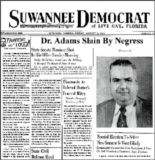 Dr Adams slain