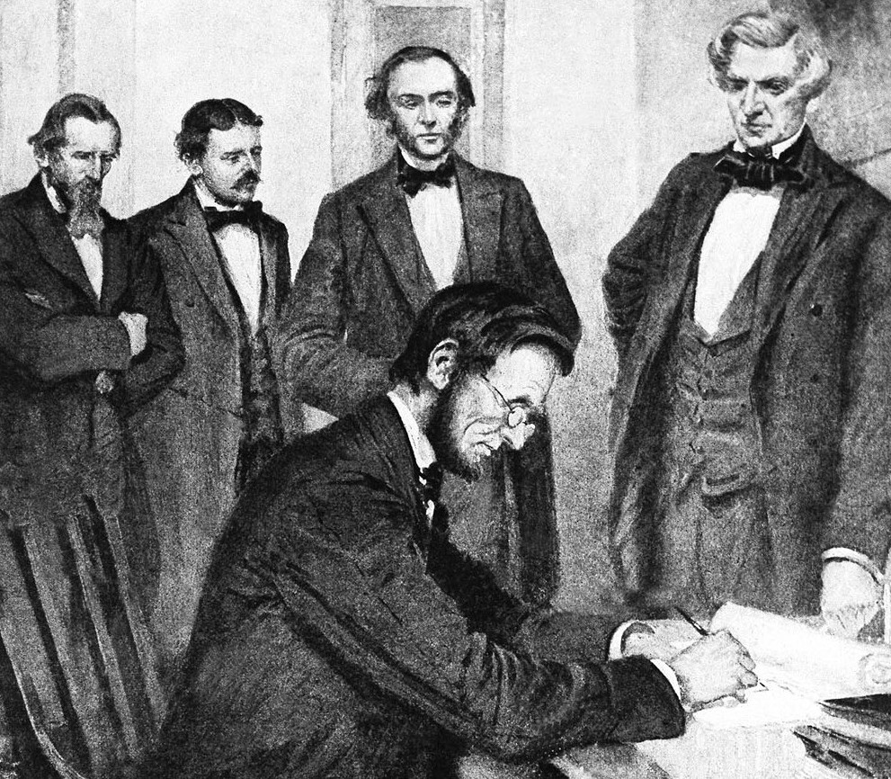 Image result for abraham lincoln signed the emancipation proclamation