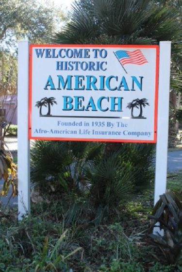 American_Beach_Welcome_Sign
