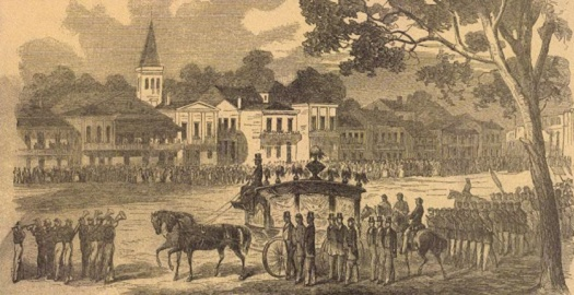 New_Orleans-funeral-cortege_Andre_Cailloux_1863