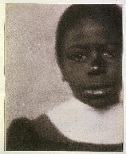 African American Girl in dress with white collar, 1905