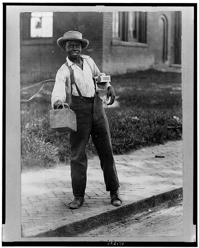 African American Boy, Shoeshine