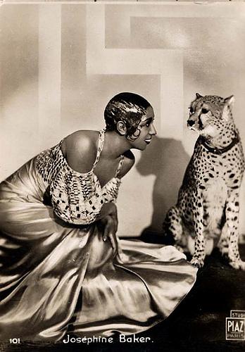 Josephine Baker with Her Cheetah, c.1930-32