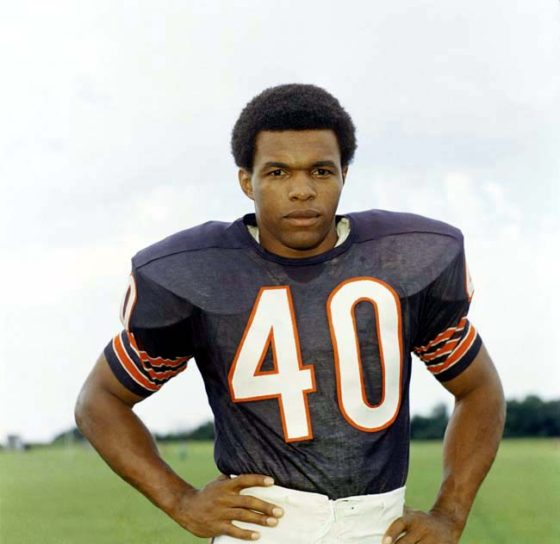 Gale Sayers, football player for the Chicago Bears, 1970. (AP Photo)