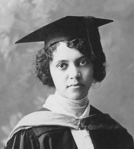 African American College Graduate in Gown