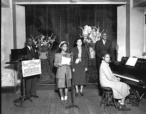 Voice of Childhood radio station, Plymouth Sunday School, 1940