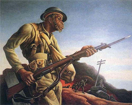 Negro Soldier by Thomas Hart Benton | 1942