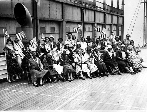 African American women on a cruise