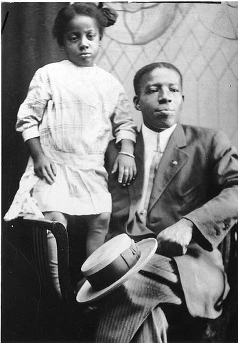 African American Man and Child