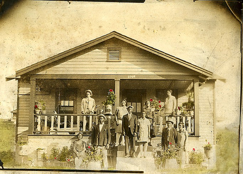 African American Family (in front of their home)