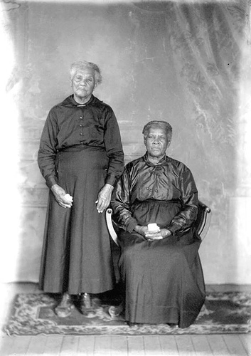 Two elderly African American women.