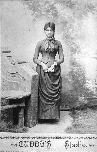 Flash Black Photo: African American Woman, Late 19th Century