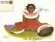 I'se_so_Happy_Little_Girl_Eating_Watermelon